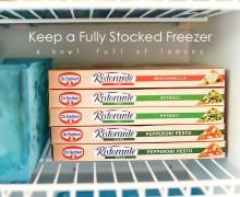 Keep a Fully Stocked Freezer via A Bowl Full of Lemons