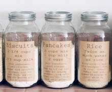 Pantry organization labels via One Project at a Time