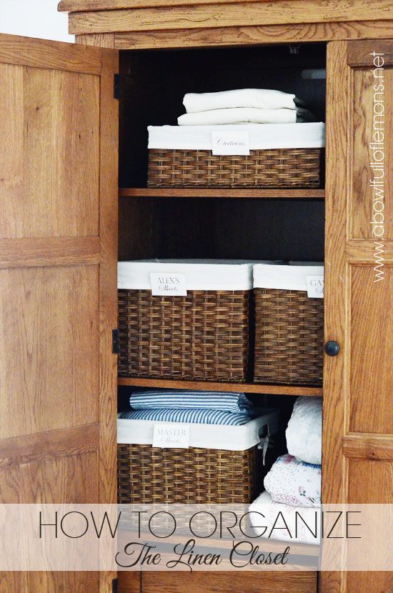 2018 Home Organization Challenge: Week 9 Linen Closet