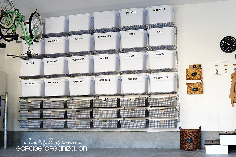 garage organization via a bowl full of lemons - Organize Garage