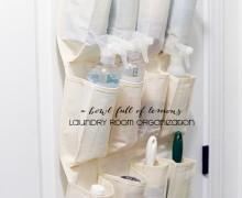 Laundry Room Organization via A Bowl Full of Lemons 5