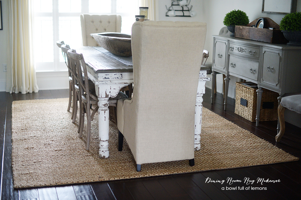 Dining Room Rug Makeover – Dining Room Rugs