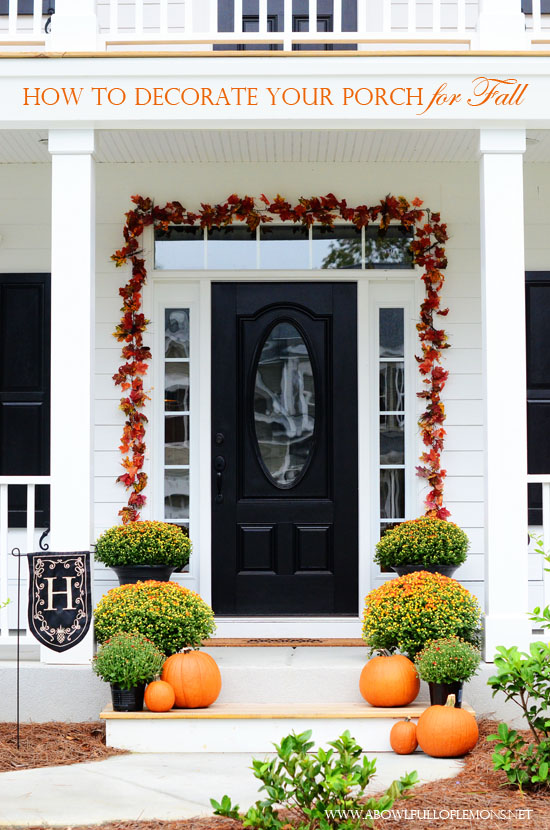 Fall cleaning with mrs meyers grove collaborative a How to decorate your front porch for fall