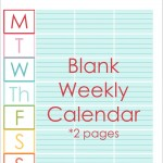 Blank Weekly customized