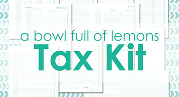 AD2 A Bowl Full of Lemons - Tax organization Kit