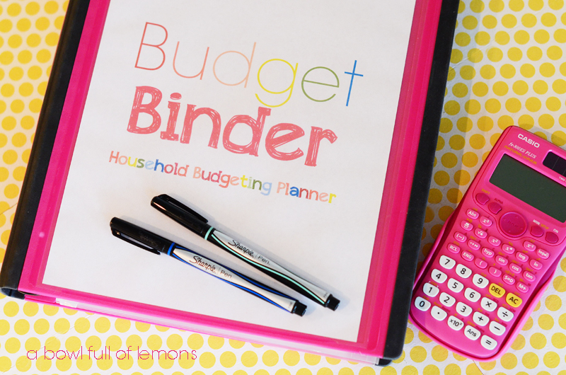 "The ""Original"" Budget Binder from A Bowl Full of Lemons."
