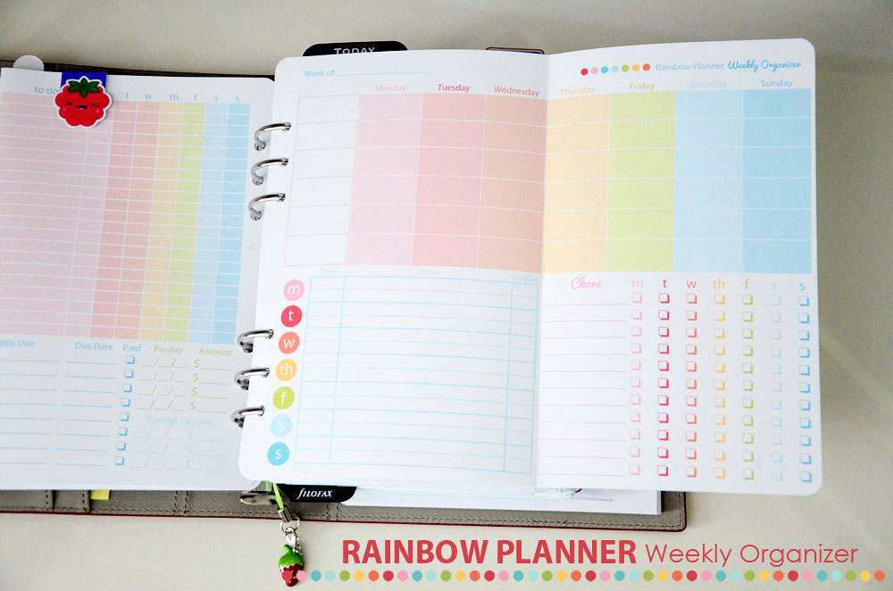 Rainbow Planner Weekly Organizer by ABFOL web