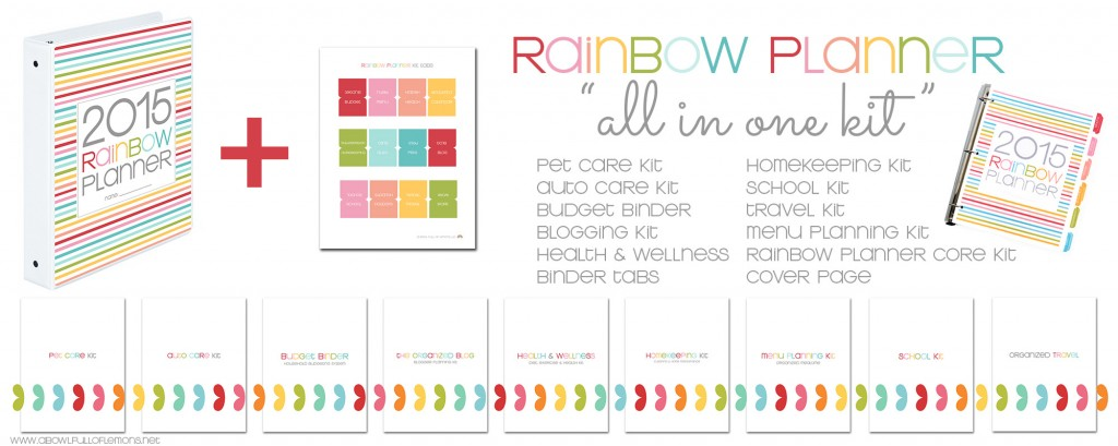 Rainbow Planner All in One Bundle by A Bowl Full of Lemons
