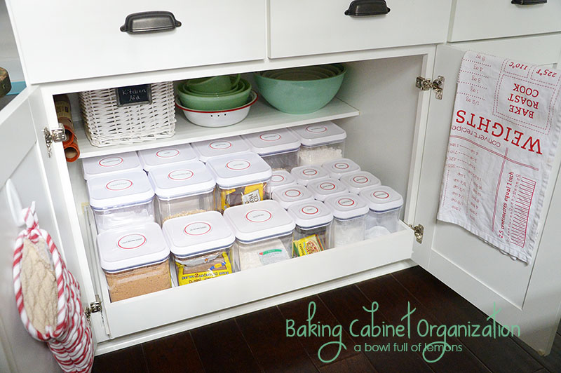 Baking Cabinet Organization - A Bowl Full of Lemons