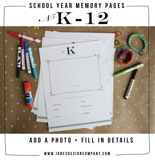 Jones Design Company School Memory Kit
