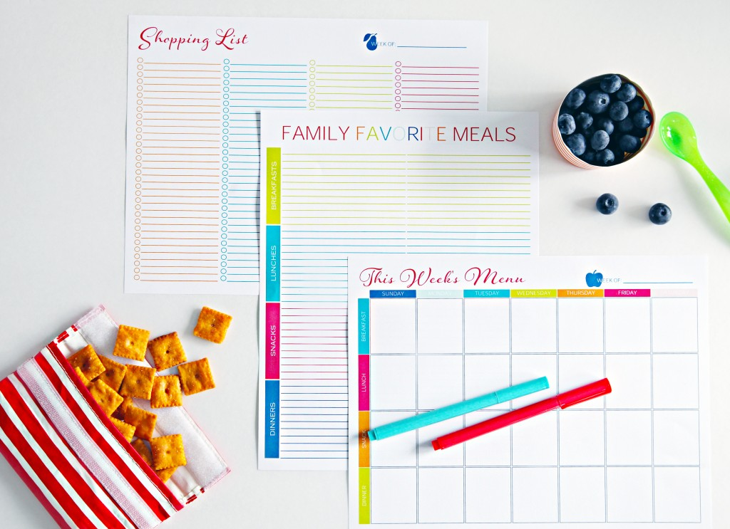 I Heart Organizing Meal Planning