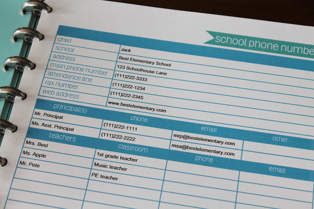 School Information Kit - editable - CMP