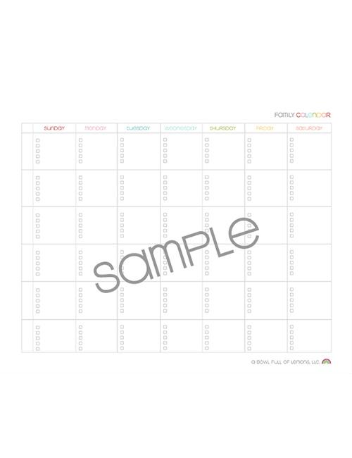 Familiy Calendar Sunday start web