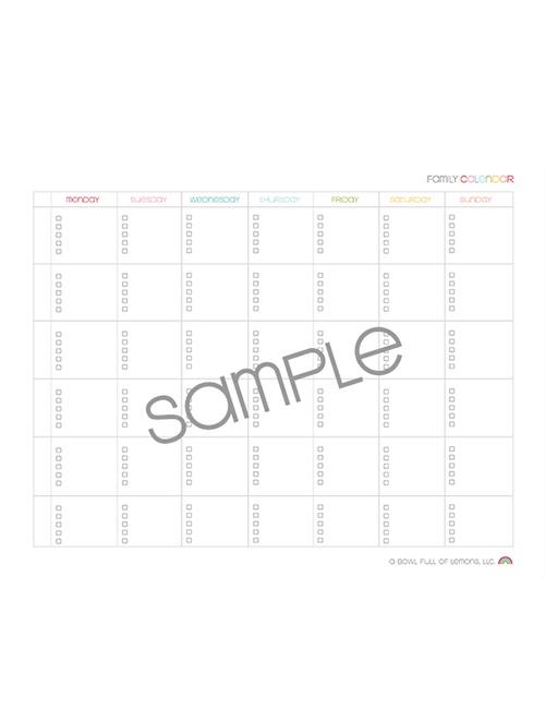 Familiy Calendar monday start web