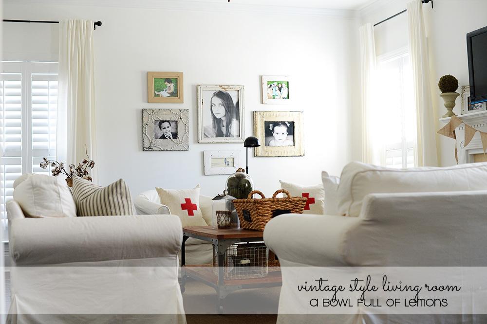 Vintage Style Living Room Via A Bowl Full Of Lemons 2