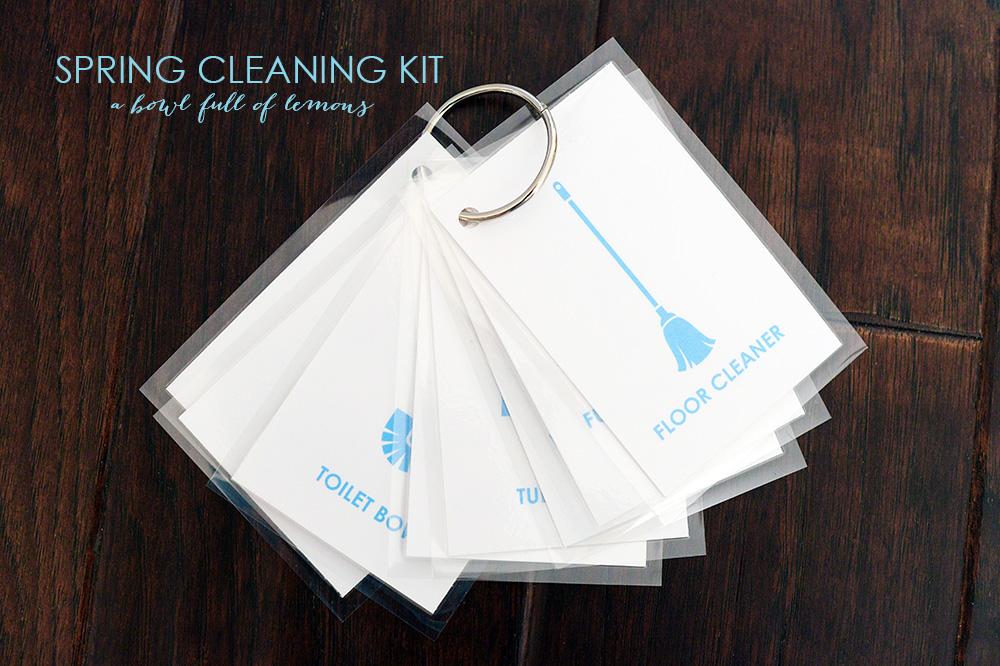 Spring Cleaning Printable Kit via A Bowl Full of Lemons