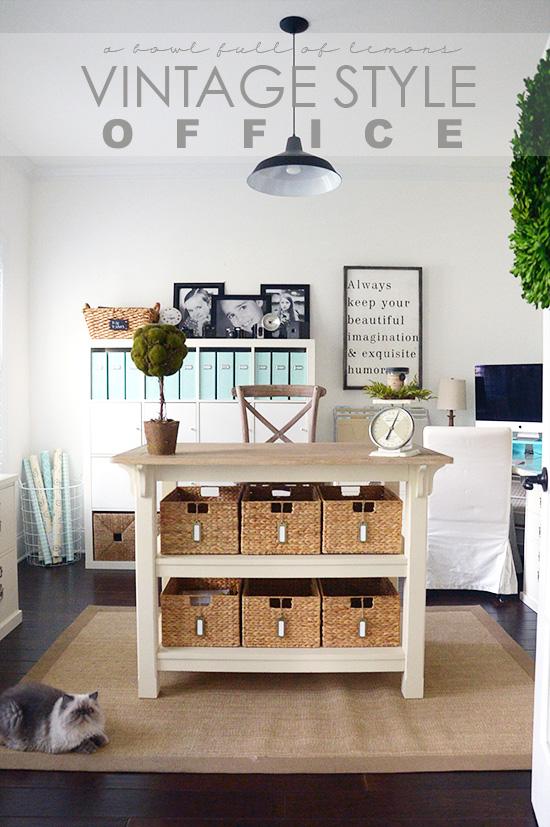 vintage style office | a bowl full of lemons