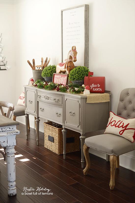 Rustic Holiday Dining Room Via A Bowl Full Of Lemons