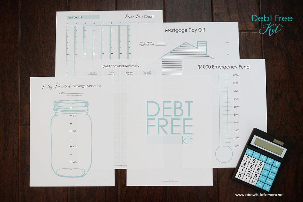 Debt Free Kit via A Bowl Full of Lemons
