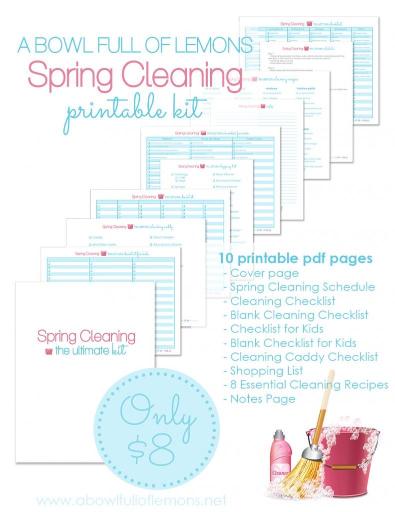 Spring Cleaning Kit via A Bowl Full of Lemons