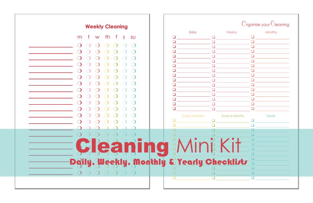 Cleaning Mini Kit via A Bowl Full of Lemons