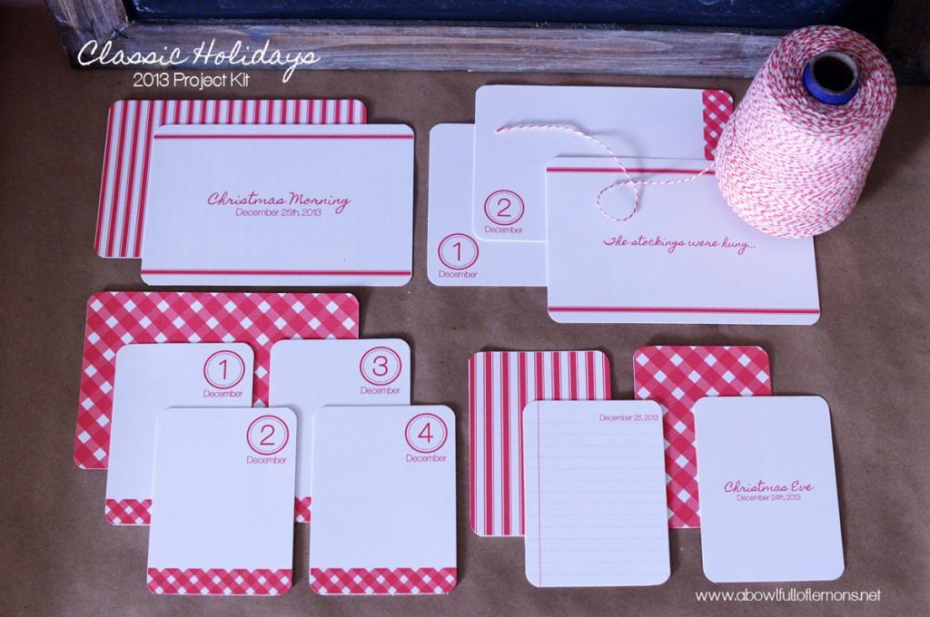 Holiday Project Life digital cards via A Bowl Full of Lemons