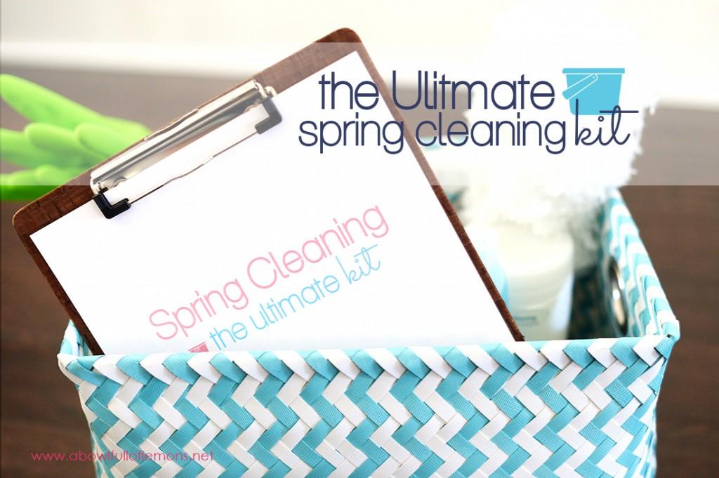 The Ultimate Spring Cleaning Printables Kit via A Bowl Full of Lemons